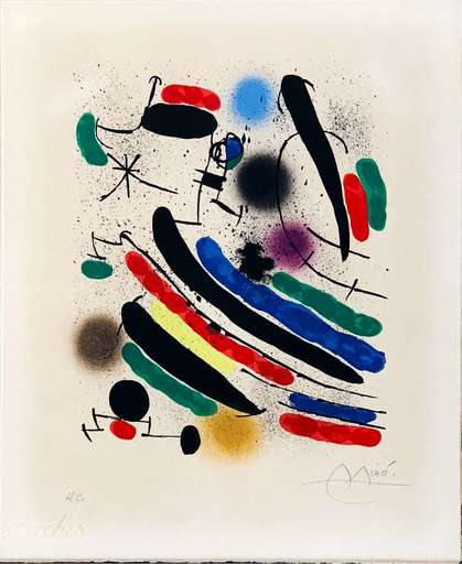 Joan MIRO - Estampe-Multiple - Lithographie I plate 2