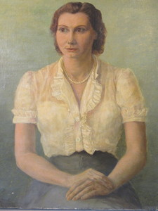 Paul ULLMAN - Painting - Portrait de femme