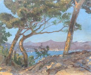 Giuseppe BODRATO - 绘画 - Golfo de La Spezia visto da Serra di Lerici