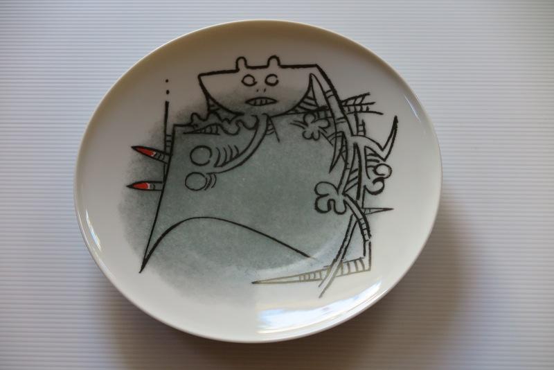 """Wifredo LAM - Céramique - Porcelana di Albisola - 9"""" plate"""
