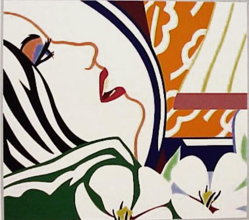 Tom WESSELMANN - Stampa Multiplo - Bedroom Face With Orange Wallpaper