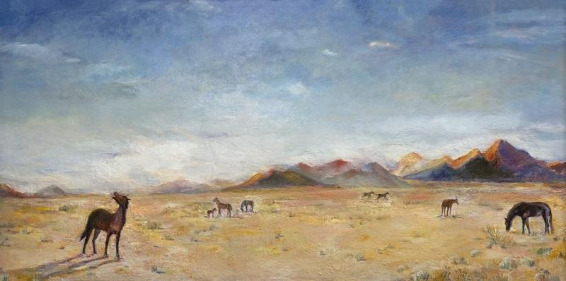Evgeny BOCHAROV - Painting - Wild Horses