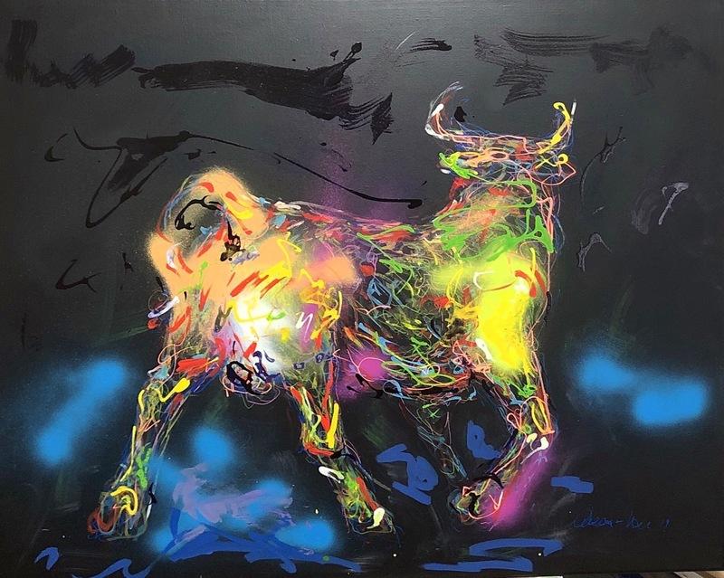 Nicole LEIDENFROST - Gemälde - Die wichtigen Dinge