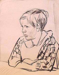 Erich HARTMANN - Dessin-Aquarelle - #19943: Knabenporträt.