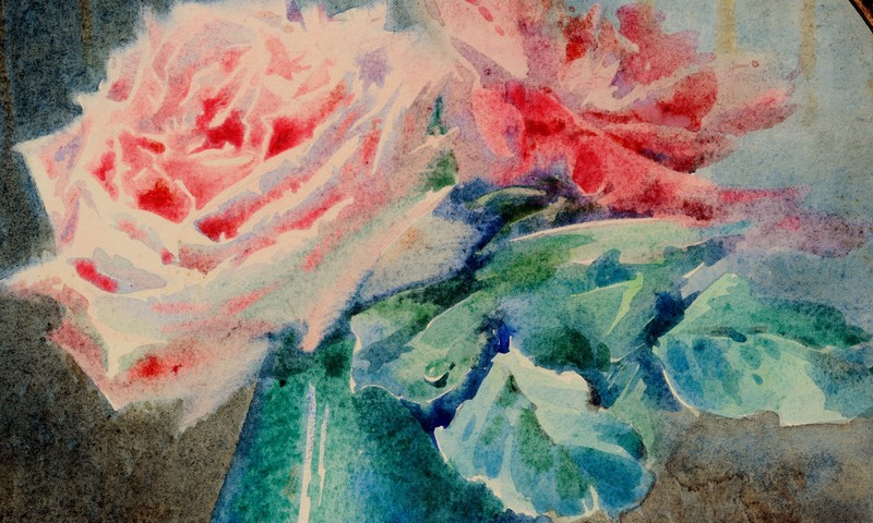 """Blanche ODIN - Drawing-Watercolor - """"LES ROSES ROSES"""""""
