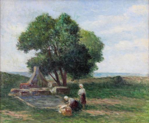 Maximilien LUCE - Peinture - Les lavandières à Kermouster