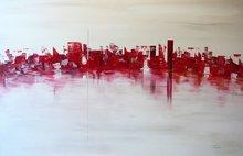 SABIE - Painting - Ivory-Red Night