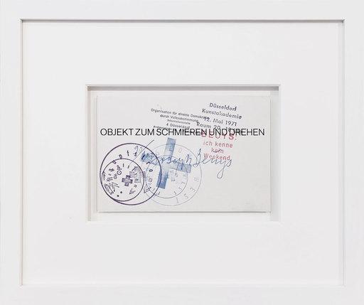 Joseph BEUYS - Grabado - Objekt zum Schmieren und Drehen