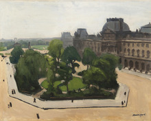 Albert MARQUET - Painting - Paris, le Louvre et le Carrousel