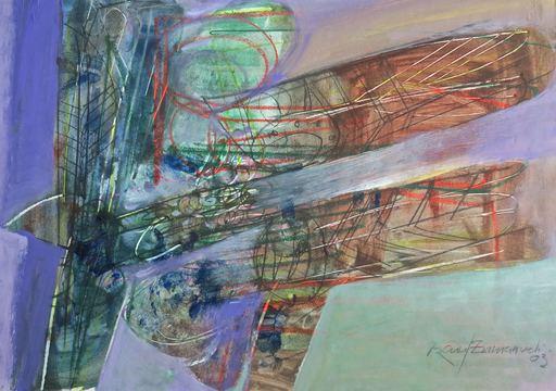 Raul Enmanuel POZO - Pintura - Formas en morado y marron