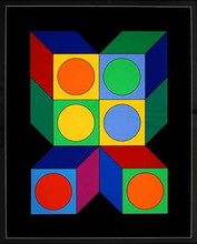 Victor VASARELY - Estampe-Multiple - Motiv VIII