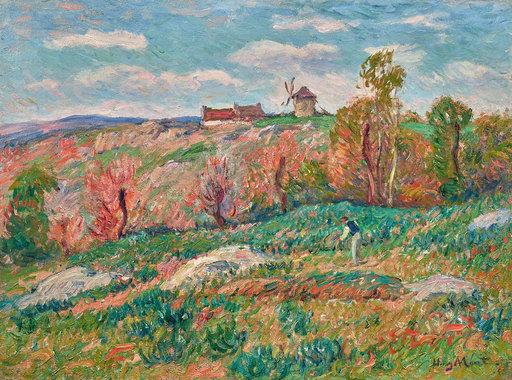 Henry MORET - Painting - Le moulin de Clohars