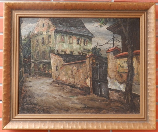 Alois KOHOUT - Painting - At the end of town