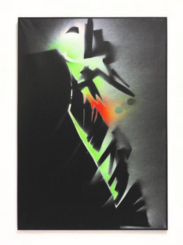 Jean TRIFFEZ - Painting - Il y a 3 couleres principales le vert le rouge et l'or