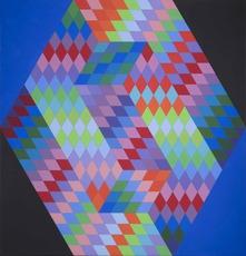 Victor VASARELY - Peinture - Ambigu