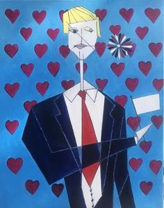 Abraham DAYAN - Pintura - We Love You Mister President !