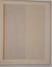 Gene DAVIS - Grabado - Homage to Barnett Newman
