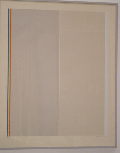 Gene DAVIS - Stampa Multiplo - Homage to Barnett Newman