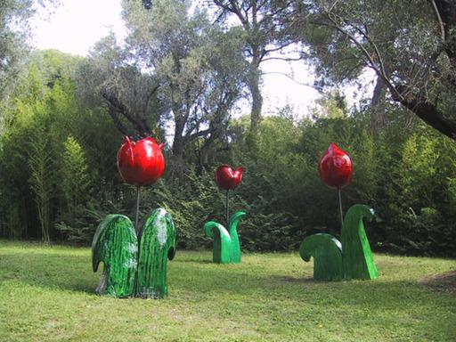 Jacky COVILLE - Sculpture-Volume - Tulipe géante