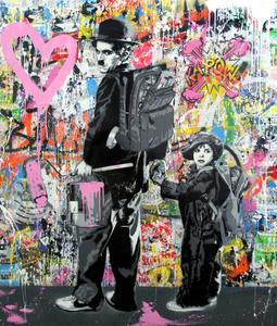 MR BRAINWASH - Painting - JUST KIDDING