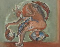 Francisco TOLEDO - Drawing-Watercolor - Mujer con camarones y tortuga - Sold