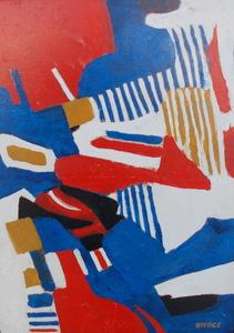 Roland BIERGE - Peinture - Abstrait