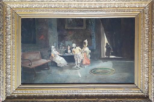 Eugenio LUCAS Y VILLAAMIL - Pintura - ESCENA DE INTERIOR
