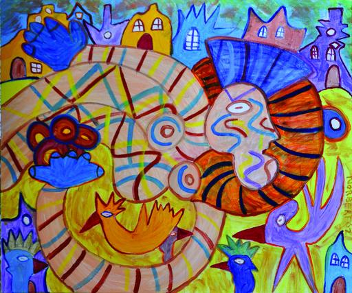 Painting - Vliegende Vrouw    (Cat N° 4312)