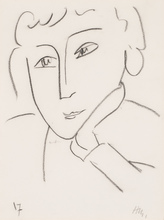 Henri MATISSE (1869-1954) - Head of a Woman, Leaning on Her Left Hand
