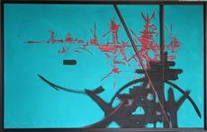 Georges MATHIEU - Pintura - Composition