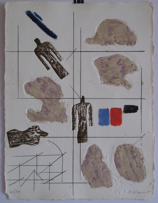 James COIGNARD - Estampe-Multiple - GRAVURE 1974 SIGNÉE AU CRAYON NUM/60 HANDSIGNED ETCHING