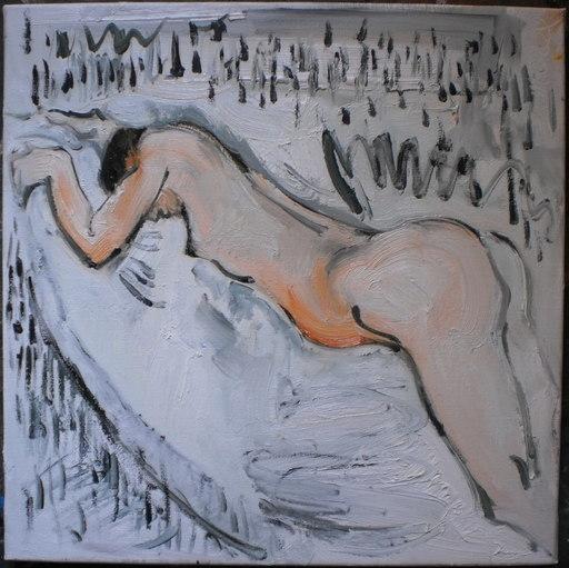 Bernard MOREL - Peinture - NU