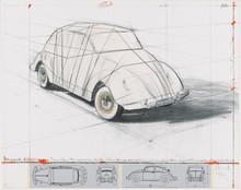 CHRISTO - Grabado - Wrapped Volkswagen (PROJECT 1961 VOLKSWAGEN BEETLE SALOON)