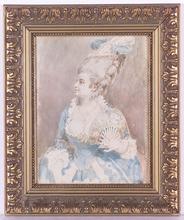 Belisario GIOJA - Dessin-Aquarelle -  Rococo Lady, Watercolor