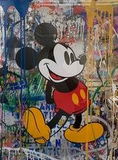 MR BRAINWASH - Peinture - Mickey Mouse