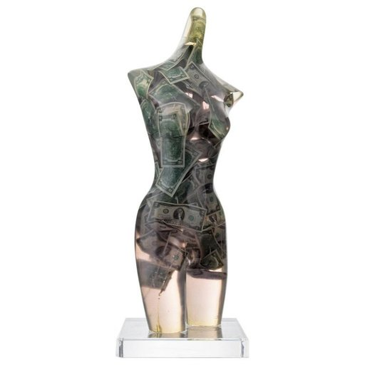 Fernandez ARMAN - Scultura Volume - Large Arman Venus with Two Dollar Bills Sculpture, Unique