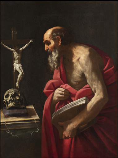 Simone CANTARINI - 绘画 - Saint Jerome
