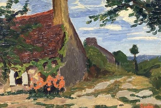 Léonard BORDES - Painting - Chaumière en Bretagne