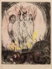 Marc CHAGALL - Estampe-Multiple - The Vision Of Ezekiel (Ezekiel: I, 4-14)