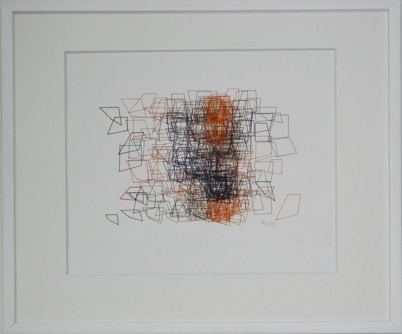 Véra MOLNAR - Dessin-Aquarelle - Structure de Quadrilatères
