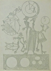 Max ERNST - Grabado - Plate 24, from Lewis Carroll's Wunderhorn