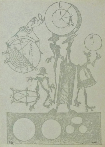 Max ERNST - Print-Multiple - Plate 24, from Lewis Carroll's Wunderhorn