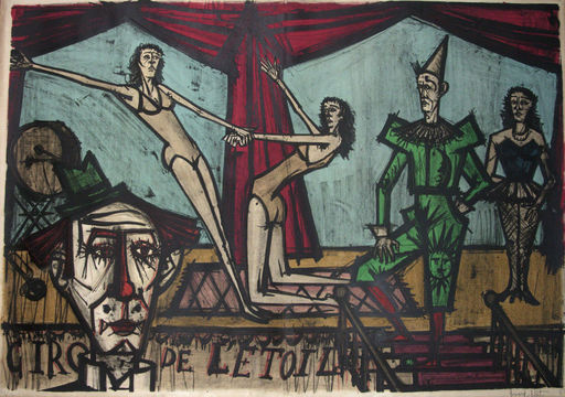 "Bernard BUFFET - Stampa Multiplo - Parade from ""The Cirque"", 1968"