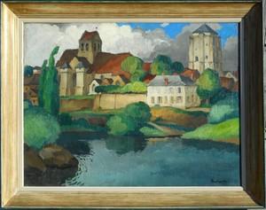 Gaston BALANDE - Pintura - LA ROCHE POSAY (VIENNE)