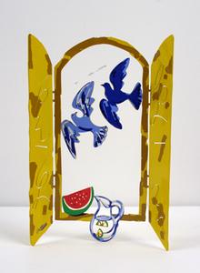 David GERSTEIN - Sculpture-Volume - Window with doves