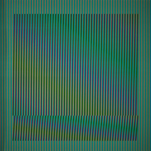 Carlos CRUZ-DIEZ - Estampe-Multiple - Induction Chromatique a double fréquence Série Orinoco 4