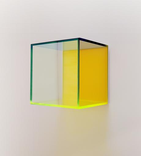 Regine SCHUMANN - Skulptur Volumen - Colormirror rainbow satin orange Milan
