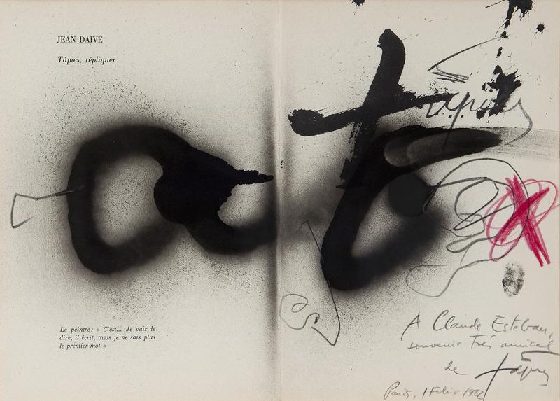 Antoni TAPIES - Zeichnung Aquarell - Argile