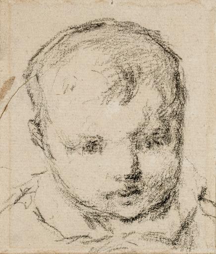 Paul GAUGUIN - Drawing-Watercolor - Clovis, the Artist's Son (Clovis, le Fils de l'Artiste)