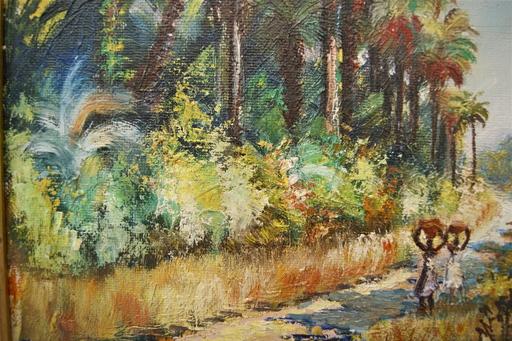 Jacques SAINT-SEINE - Painting - Route de Brin, Casamance, Sénégal